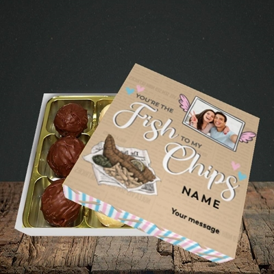 Picture of Fish To My Chips, Valentine's Design, Choc 9