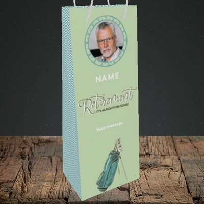 Picture of Retirement Golf, Leaving Design, Bottle Bag