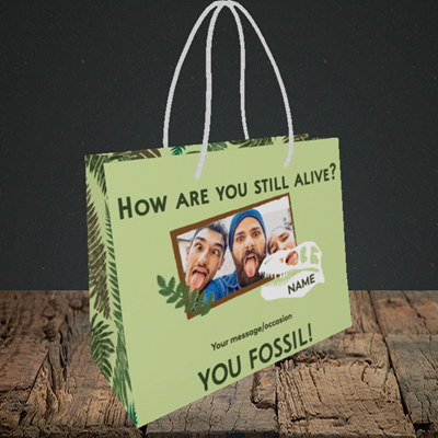 Picture of Fossil, Birthday Design, Small Landscape Gift Bag