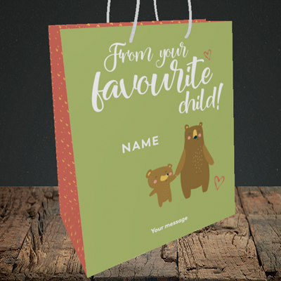 Picture of Favourite child, (Without Photo) Mother's Day Design, Medium Portrait Gift Bag