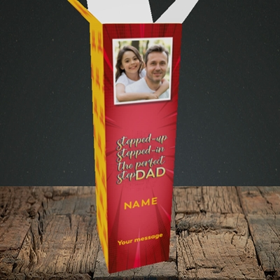 Picture of Stepped Up, Father's Day Design, Upright Bottle Box