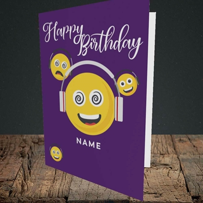 Picture of Smileys, (Without Photo) Birthday Design, Portrait Greetings Card
