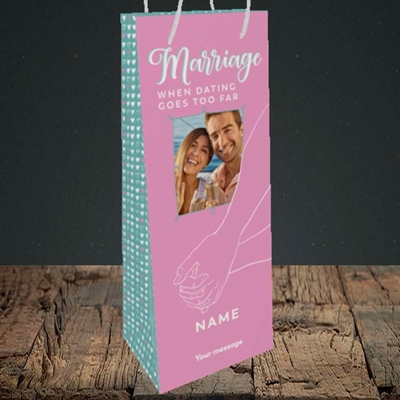 Picture of Dating Goes Too Far, Wedding Design, Bottle Bag