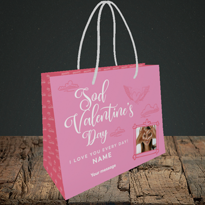Picture of Sod Valentine's Day, Valentine's Design, Small Landscape Gift Bag