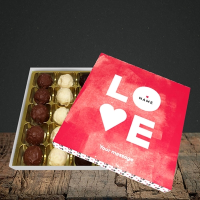 Picture of Love Type (Stacked) (Without Photo), Valentine Design, Choc 25
