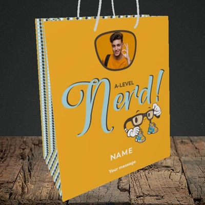 Picture of A-Level Nerd, Graduation Design, Medium Portrait Gift Bag