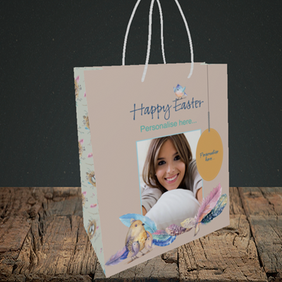 Picture of Birds, Easter Design, Small Portrait Gift Bag