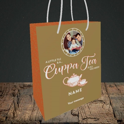 Picture of Cuppa Tea, Get Well Soon Design, Small Portrait Gift Bag