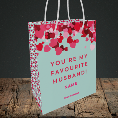 Picture of Favourite Husband(Without Photo), Valentine's Design, Small Portrait Gift Bag