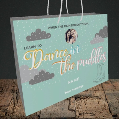 Picture of Puddles, Thinking of You Design, Medium Landscape Gift Bag