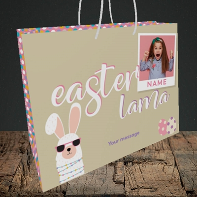 Picture of Easter Lama, Easter Design, Medium Landscape Gift Bag