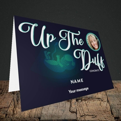 Picture of Up The Duff, Pregnancy Design, Landscape Greetings Card