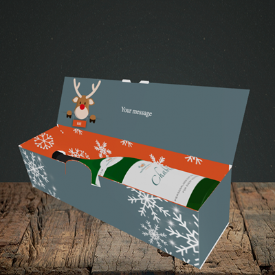 Picture of Naughty, (Without Photo) Christmas Design, Lay-down Bottle Box
