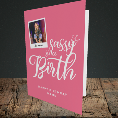 Picture of Sassy, Birthday Design, Portrait Greetings Card