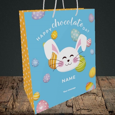 Picture of Chocolate Day, (Without Photo) Easter Design, Medium Portrait Gift Bag
