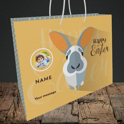 Picture of Pick Me Up Bunny, Easter Design, Medium Landscape Gift Bag