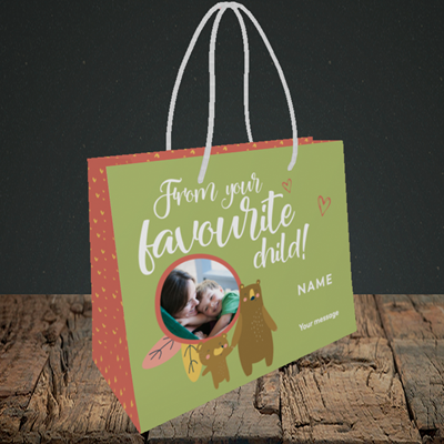Picture of Favourite Child, Mother's Day Design, Small Landscape Gift Bag
