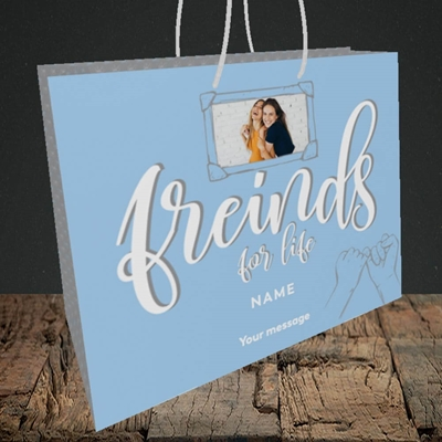 Picture of Friends For Life, Thinking of You Design, Medium Landscape Gift Bag