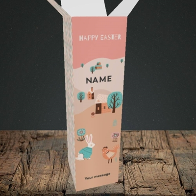 Picture of Easter Farm(Without Photo), Easter Design, Upright Bottle Box
