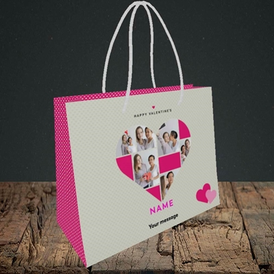 Picture of Heart Multi Photo, Valentine's Design, Small Landscape Gift Bag