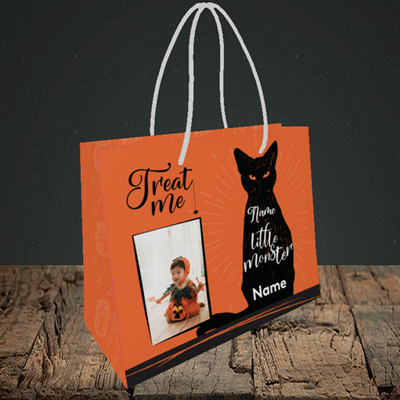 Picture of Cat, Halloween Design, Small Landscape Gift Bag
