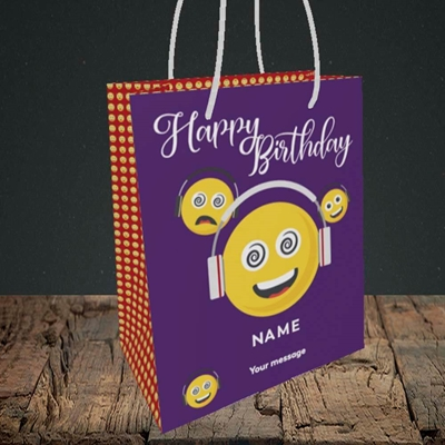 Picture of Smileys, (Without Photo) Birthday Design, Small Portrait Gift Bag