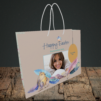 Picture of Birds, Easter Design, Small Landscape Gift Bag
