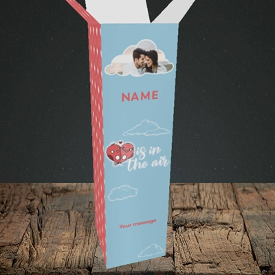 Picture of Love Is In The Air, Valentine's Design, Upright Bottle Box