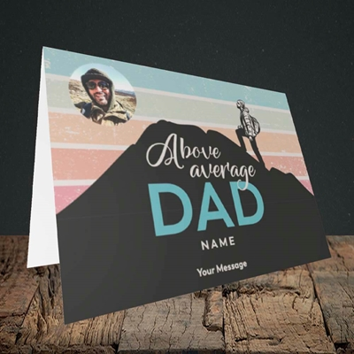 Picture of Above Average Dad, Father's Day Design, Landscape Greetings Card