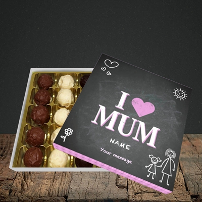 Picture of I Love Mum (Chalk Board),(Without Photo), Choc 25