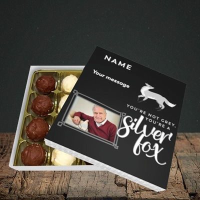 Picture of Silver Fox, Birthday Design, Choc 16