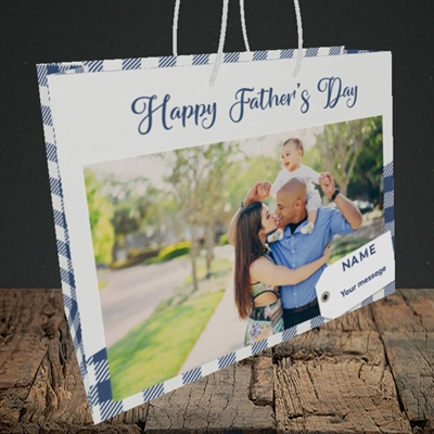 Picture of 1. Large Photo, Father's Day Design, Medium Landscape Gift Bag