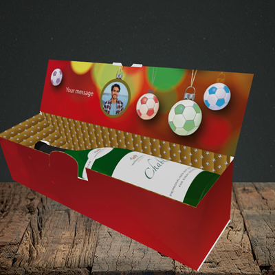 Picture of Christmas Baubles, Christmas Design, Lay-down Bottle Box