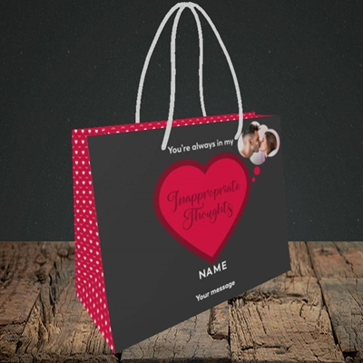 Picture of Inappropriate Thoughts, Valentine's Design, Small Landscape Gift Bag