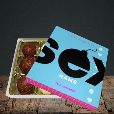 Picture of Sex Bomb - Blue(Without Photo), Valentine Design, Choc 9