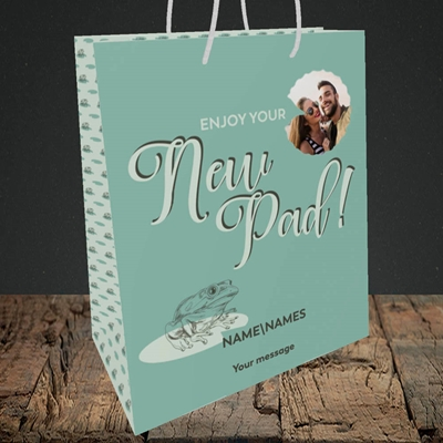 Picture of New Pad, New Home Design, Medium Portrait Gift Bag