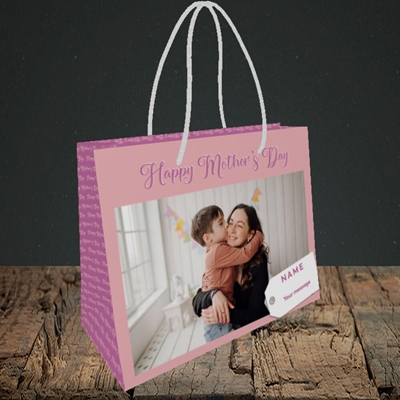 Picture of 1. Large Photo, Mother's Day Design, Small Landscape Gift Bag