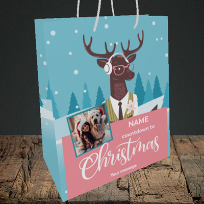 Picture of Countdown, Christmas Design, Medium Portrait Gift Bag