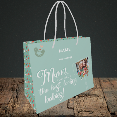 Picture of Best Looking Babies, Mother's Day Design, Small Landscape Gift Bag