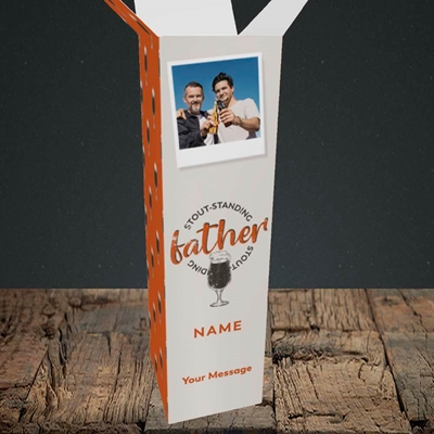 Picture of Stout-standing Father, Father's Day Design, Upright Bottle Box