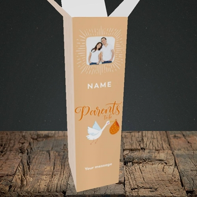 Picture of Parents To Be, Pregnancy Design, Upright Bottle Box