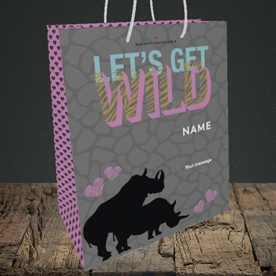 Picture of Let's Get Wild(Without Photo), Valentine's Design, Medium Portrait Gift Bag