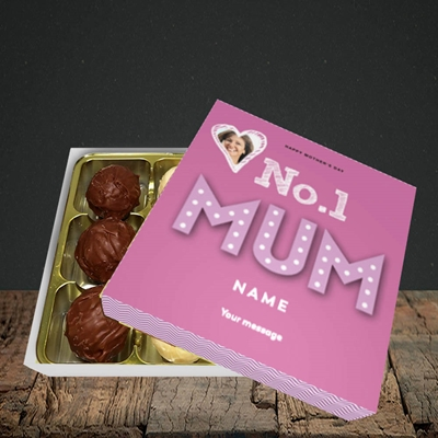 Picture of No.1 Mum (In Lights), Mother's Day Design, Choc 9