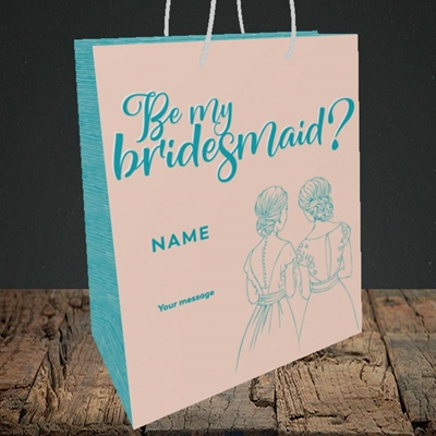 Picture of Be My Bridesmaid(Without Photo), Wedding Design, Medium Portrait Gift Bag