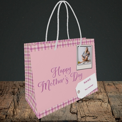 Picture of 2. Polaroid(Chequer), Mother's Day Design, Small Landscape Gift Bag
