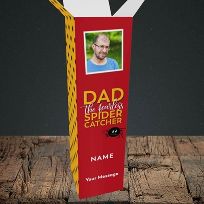 Picture of Spider Catcher, Father's Day Design, Upright Bottle Box