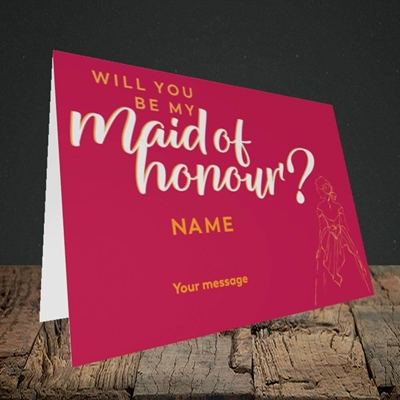 Picture of Maid Of Honour(Without Photo), Wedding Design, Landscape Greetings Card