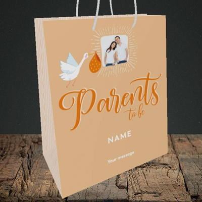 Picture of Parents To Be, Pregnancy Design, Medium Portrait Gift Bag