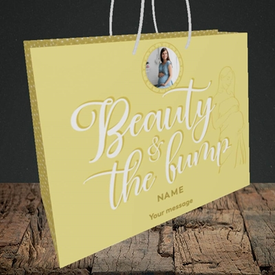 Picture of Beauty & The Bump, Pregnancy Design, Medium Landscape Gift Bag
