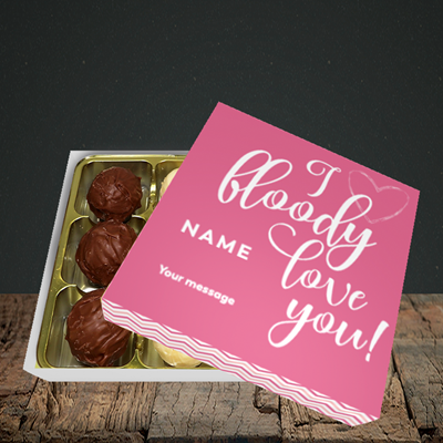 Picture of I Bloody Love You(Without Photo), Valentine's Design, Choc 9